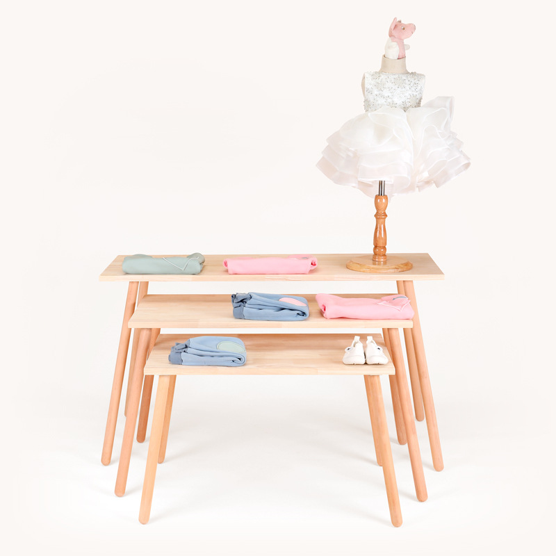 INS Northern European-Style Simple Floor High-low Table CHILDREN'S Clothing Store Shelf Storage Display Stand