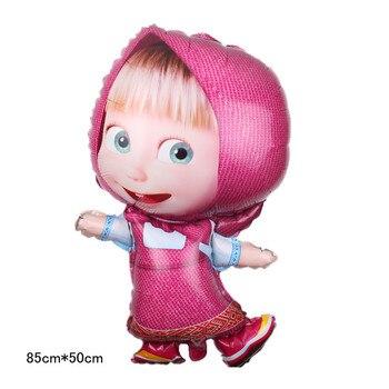85cm * 50cm Masha estilo globo Masha y oso globo de aluminio fiesta de cumpleaños decoración infantil de juguetes globo de aire