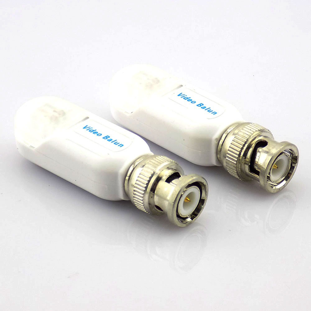 1pair Twisted CCTV BNC Video Balun Power Cable Passive Video Transceiver  Cat5 Anti Thunder UTP Balun For Connector Camera H10