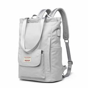 Waterproof Stylish Laptop Backpack women 13 13.3 14 15 15.6 inch Korean Fashion Oxford Canvas USB College Back pack bag female(China)