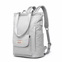 Waterproof Stylish Laptop Backpack women 13 13.3 14 15.6 inch Korean Fashion Oxford Canvas USB