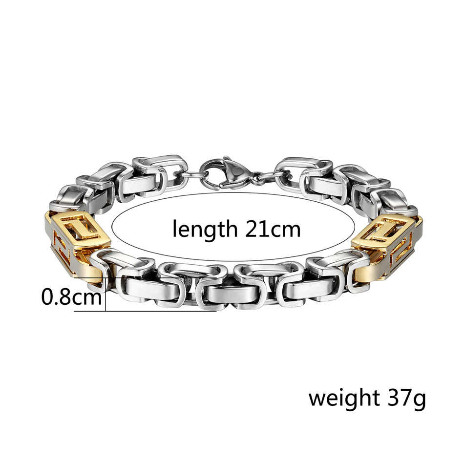 Edelstahl Kette Armbänder Gold Silber Farbe Karabinerverschluss Armband für Männer Frauen Zubehör