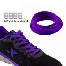 1 Pair Elastic Shoelaces No Tie Shoe laces Flat Kids Adult Leisure Sneakers Lazy Fashion Quick Unisex lace
