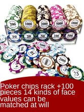 Chip Coins Mahjong Texas Poker Chip Card Special Tokens for Chess Room 21 Points High-End Double-Sided Points Exchange