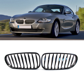 1 Pair Car Front Kidney Bumper Grille Racing Grill For BMW E85 E86 Z4 2003-2008 Convertible Coupe Auto Accessories Car Styling image