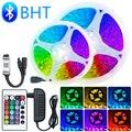 Светодиодный полосы света Bluetooth RGB 5050 SMD 2835 Luces светодиодный гибкая лента Водонепроницаемый лента диод пульт дистанционного управления 5 м 7,5 ...