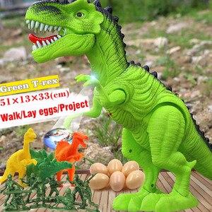 Image 5 - Jurassic parque grande dinossauro eletrônico brinquedos modelo para a criança brinquedo de som para o menino animal ovo ação jogar figura uma peça casa deco