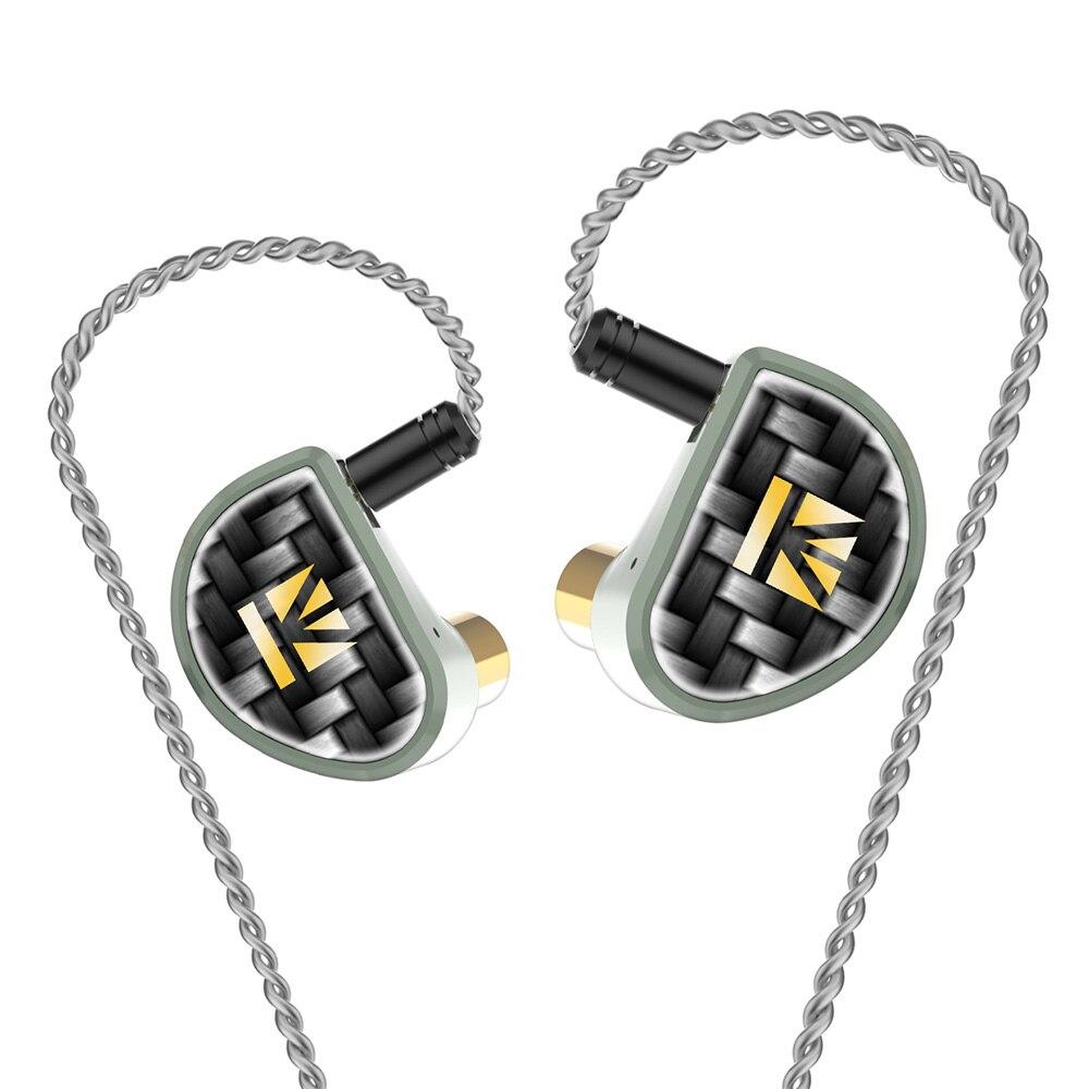 FDBRO Алмазная углеродная (DLC) с покрытием PET в ухо наушник с разделенным 2pin кабелем HiFi DJ спортивные наушники с уравновешенным якорем