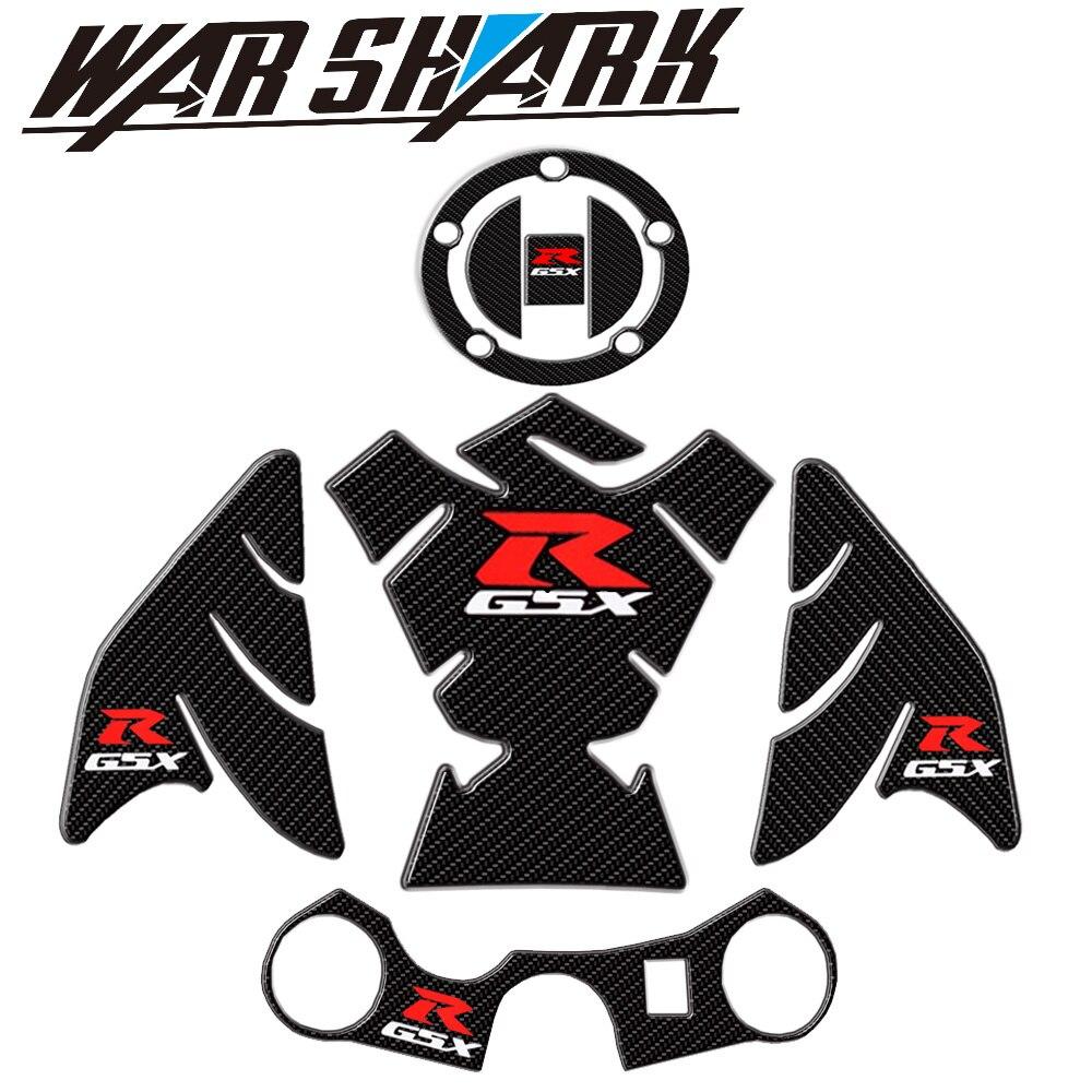 For Suzuki GSXR 600 750 1000 K1 K3 K4 K5 K6 K7 K8 K9 Motorcycle 3D Carbon Fiber Tank Fish Bone Decoration Stickers Fit