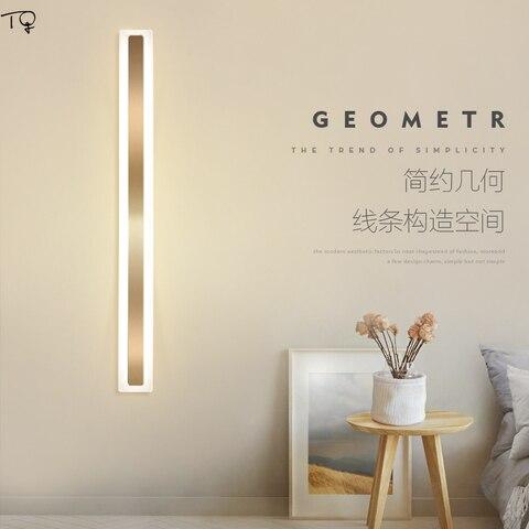 luxo longo tira de luz parede ouro sala estar decoracao moderna led iluminacao interior decoracao