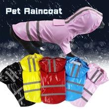 Primavera Verano al aire libre impermeable para perro mascota reflexivo PU cachorro mascota con capucha capa de lluvia impermeable para perros y gatos, chaquetas de Chihuahua