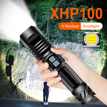 Super Powerful Led Flashlight Tactical Torch XHP100 Flashlight 18650 Usb Rechargeable Hand Lamp Flash Light bicycle Lantern led