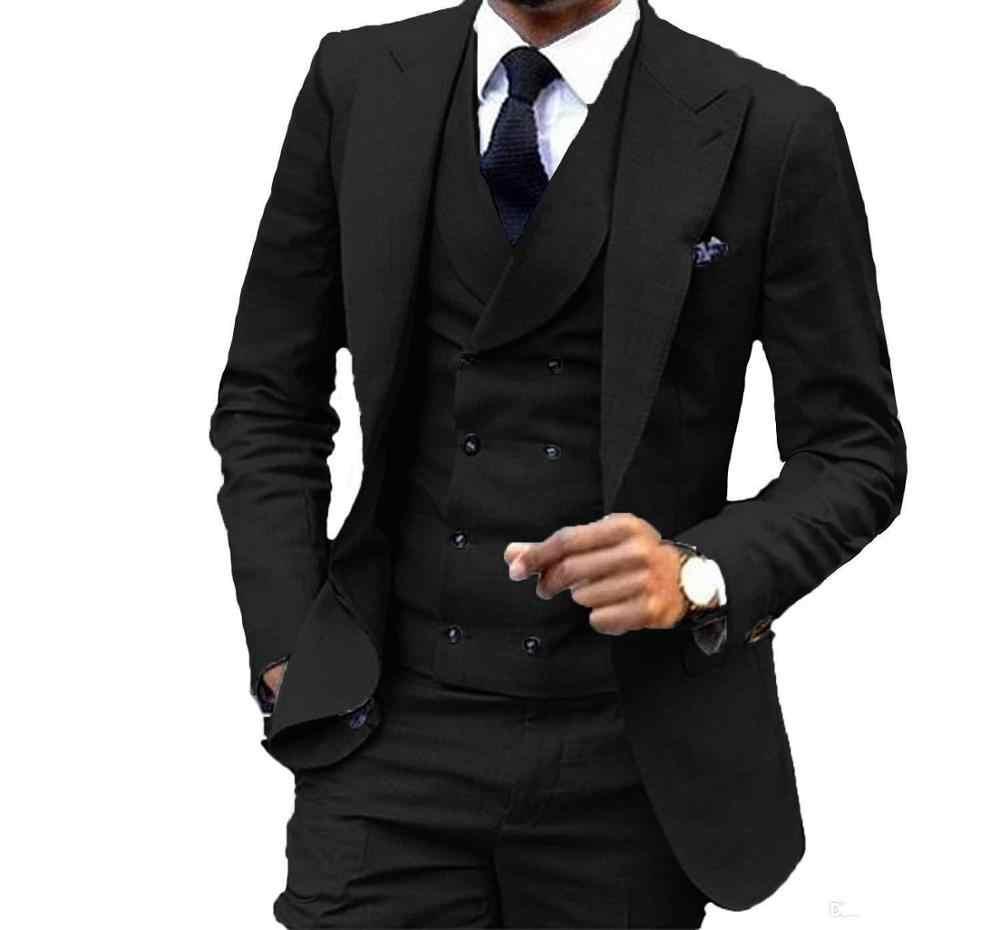 Tùy Chỉnh Thiết Kế Màu Hồng 3 Mảnh Phù Hợp Với Áo Cưới Tuxedos Xuất Sắc Chú Rể Nam Kinh Doanh Ăn Tối Dạ Hội Áo (Áo + Quần + Áo)