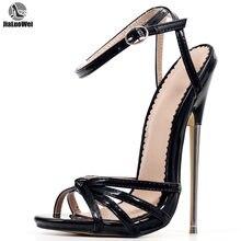 Туфли женские на высоком каблуке фетиш босоножки с ремешком