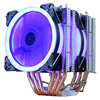 2 Fan LED 4pin Blue