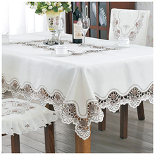 Lychee Pastoral Style Embroidery Table Cloth Simple Rectangle Cover Home Wedding Birthday Party Tablecloth