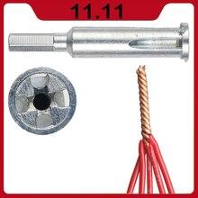 Herramienta de torsión de alambre eléctrico Universal decapante con cable automático Dispositivo de pelado de cables conector de mano herramienta de torsión