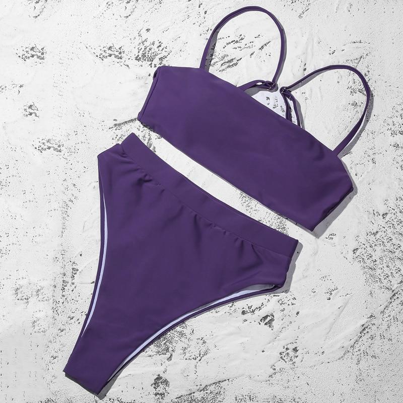 H2790d68d91a24308a5c35c3d17baa7f9a ZTVitality Sexy Bikinis Solid Push Up Bikini 2019 Hot Sale Padded Bra Straps High Waist Swimsuit Swimwear Women Print Biquini XL