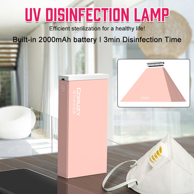 Portable UV Disinfection Lamp Sterilization Light Box Mini Ultraviolet Sterilizer for Mask Tableware Bottle Towel Home Travel