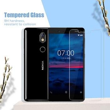 Перейти на Алиэкспресс и купить Закаленное стекло протектор экрана для мобильного телефона для Nokia C5 Endi C2 Tennen Tava C1 Nokia Lumia 950 640 635 630 535 крышка HD 9H пленка