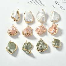Irregular shaped baroque retro color pearl bag Phnom Penh pendant DIY earrings jewelry accessories materials(China)