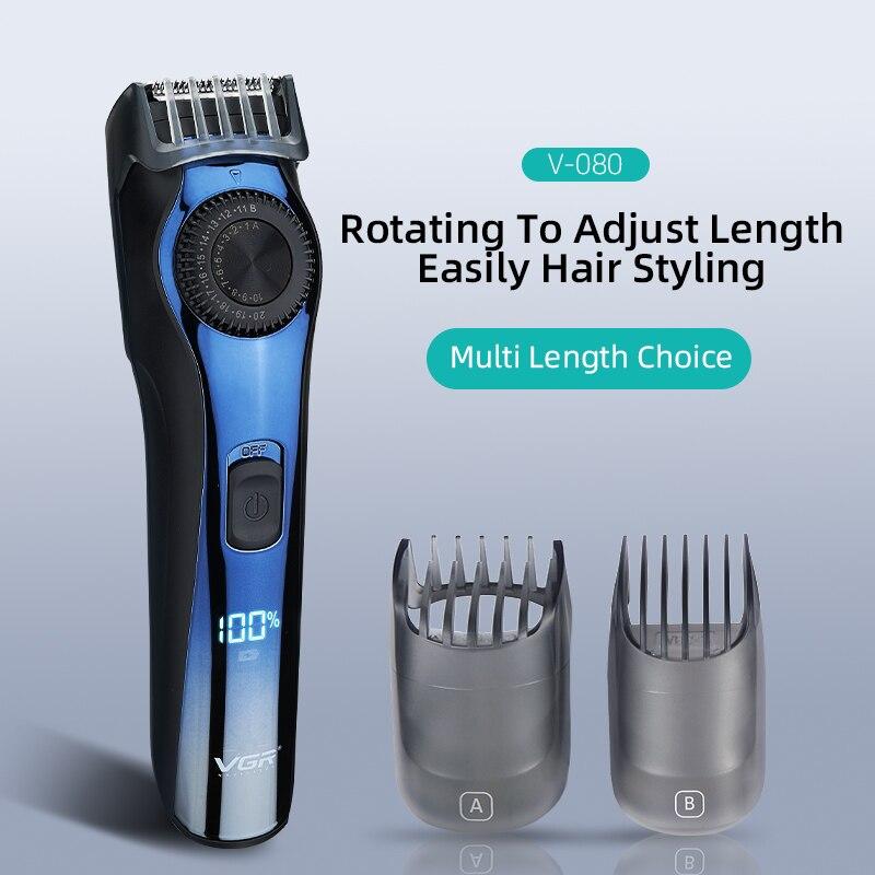 Машинка для стрижки волос, мощный триммер с ЖК-дисплеем, Профессиональный парикмахерский инструмент с аккумулятором