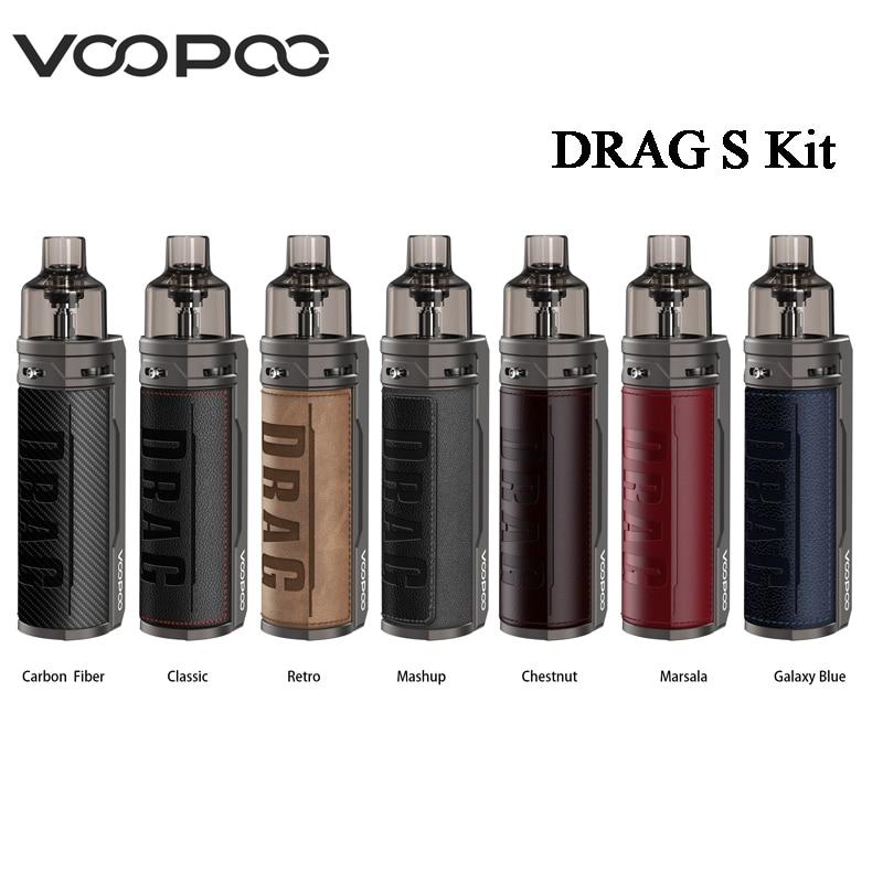 Original VOOPOO DRAG S Mod Pod Kit 4.5ml Pod Cartridge Vape 2500mAh Built-in Battery E-Cigarette Vaporizer MTL Pod Kit