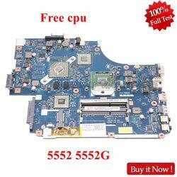 Nokotion mbwve02001 mb. wve02.001 new75 LA-5911P para acer aspire 5552 5552g portátil placa-mãe ddr3 512 mb gpu cpu livre
