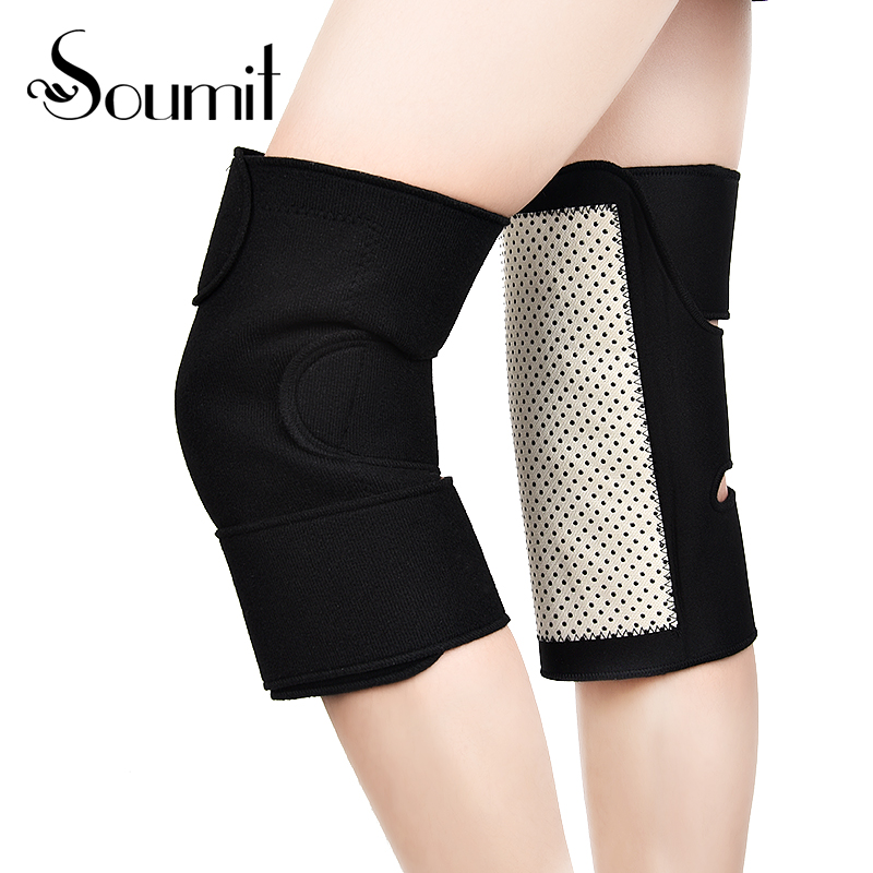 Soumit Magnetic Knee Pad Self-heating Knee Sleeve Pain Relief Keep Warm Arthritis Support Tourmaline Therapy Brace Sport Care