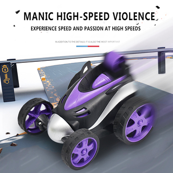 Wireless Remote control stunt car Tumbling Stunt Dump Truck car Toys For Children Electric Cool Toy Boy Birthday best Gifts image