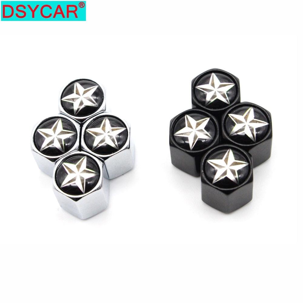 DSYCAR 4Pcs/Set Car Styling Zinc Alloy Car Tire Valve Caps Wheel Tires Tire Stem Air Cap Airtight Covers