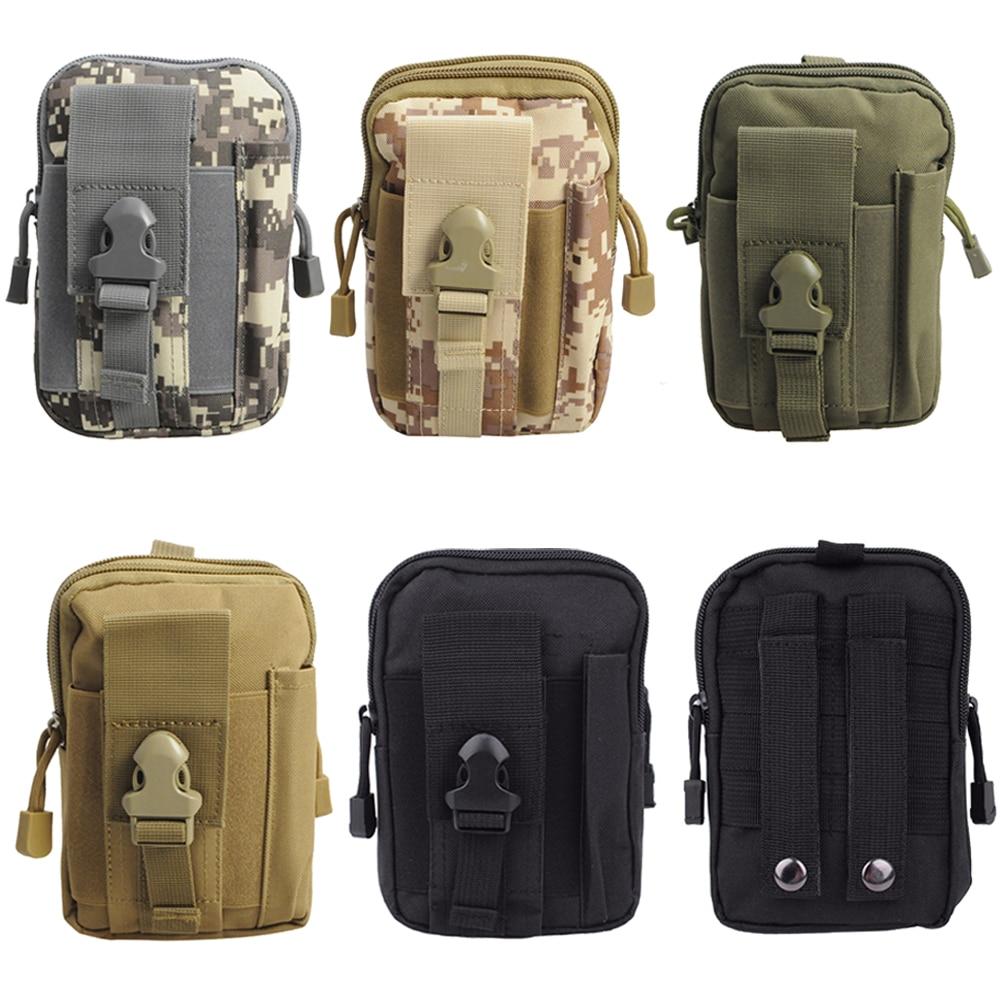 1000D Nylon Tactical Wallet Men EDC Pouch Tactical Military Outdoor Molle Waist Bag Utility Pouch Phone Case Multi Pockets