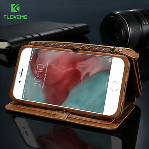 Image 3 - FLOVEME Retro Wallet Case For iPhone 11 Pro Max 11 XR 7 Coque Flip Leather Cover for iPhone XS  Max X 6S Samsung Note 8 9 3 Case