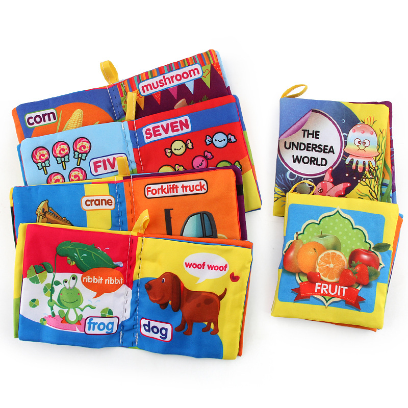 1Pcs Delicate Fashion Baby Touch Stereo Cloth Books Classic Early Childhood Reading Learning Language Educational Toys