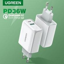 UGREEN PD36W chargeur USB Charge rapide 4.0 3.0 rapide Type C chargeur pour iPhone 12 Xiaomi Samsung QC 3.0 4.0 chargeur de téléphone