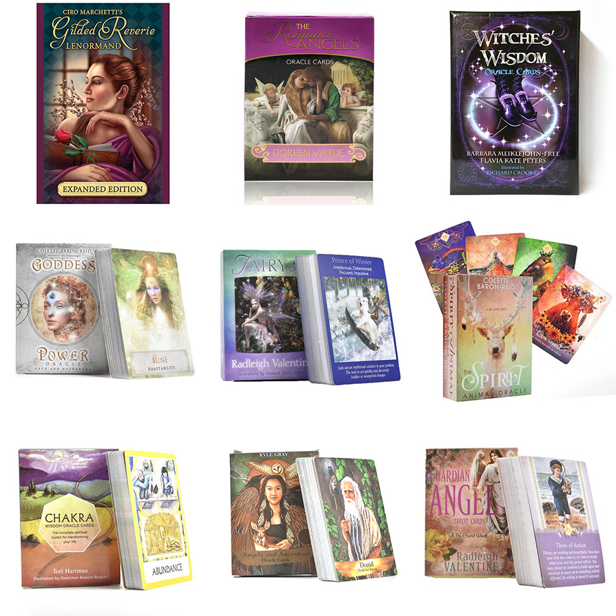 11 Styles English Oracle Cards For Guidance Divination Fate Tarot Cards Deck Board Games Women Family Party Table Playing Games