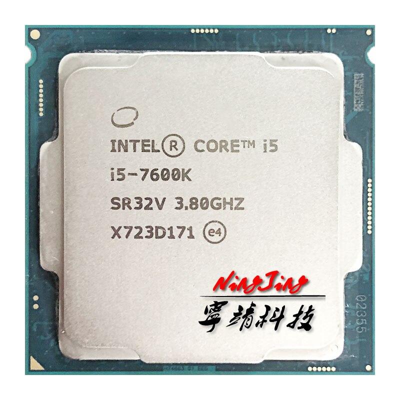 Процессор Intel Core 7600 i5, 1151 K, 3,8 ГГц, четырехъядерный процессор с четырехъядерным процессором, 6 м, 91 Вт, LGA