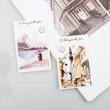 All-Over-The-World Gift-Card Mini Postcard/Greeting-card/christmas 28sheets/Set