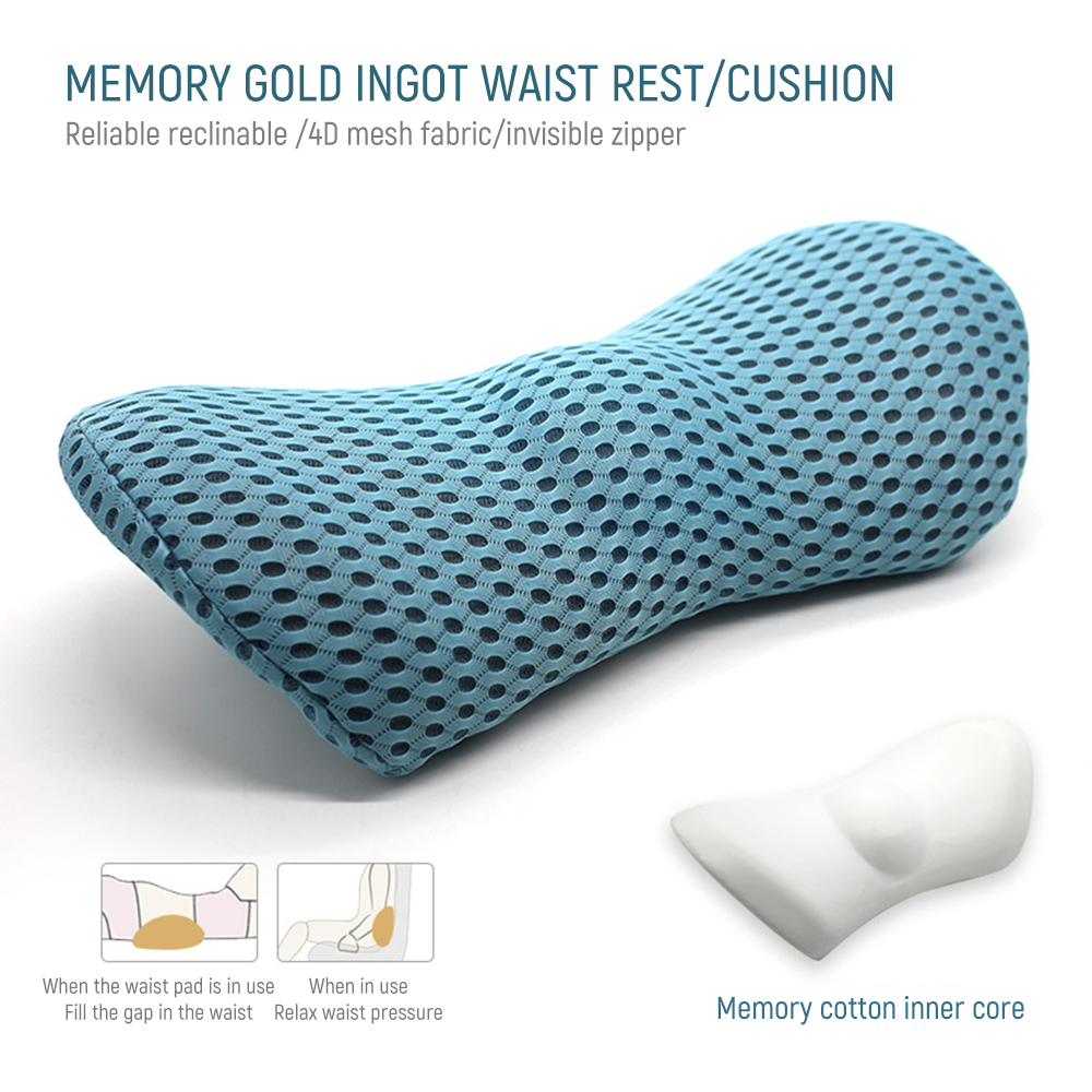 4D Mesh Bed Sleeping Lumbar Support Pillow For Side Sleepers Pregnancy Relieve Hip Tailbone Pain Sciatica Chair Car Back Cushion