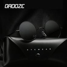 GAOOZE Round Sunglasses Men Polarized Sun Glasses for