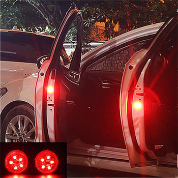 2pcs LED Car Door Opening Warning Lights for Hyundai SantaFe Veracruz Mistra Veloster Rohens AZERA Avante Accent image