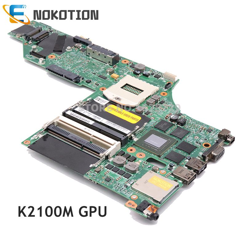 NOKOTION Laptop Motherboard For Lenovo Thinkpad W540 LKM-1 WS MB 48.4LO13.021 FRU 04X5293 K2100M 04X5301 04X5333 04X5325 04X5317 image