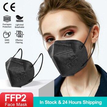 FFP2 Mascarillas Negras KN95 Face Mask Mondkapjes Zwart Protective Filtros Mascarillas FFP2Mask Mascarillas ffp2reutilizable недорого