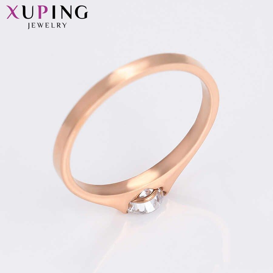 11,11 Angebote Xuping Ring schmuck für Frauen Edelstahl Charms Stile Familie Party Geburtstag Mode Prime Geschenk S182.7-16248