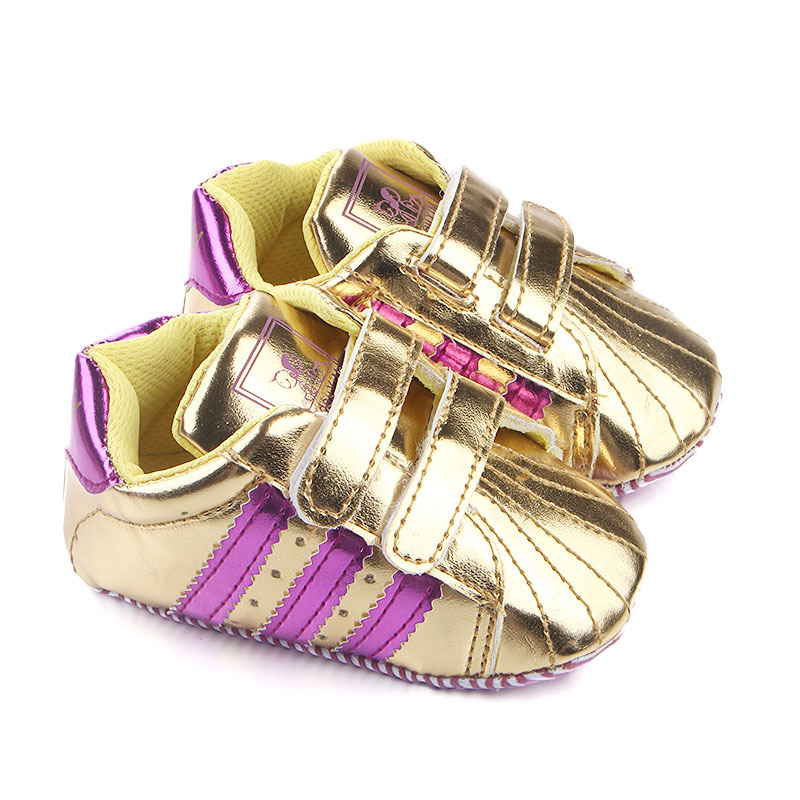 Toddler Baby Boy Shoes Infant Kids Soft PU Anti-slip Sole Sneakers Girls Sport Casual Baby Rose Gold Shoes 0-18 Months
