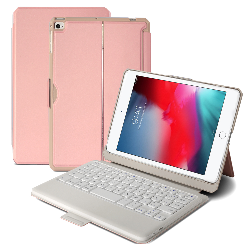 For <font><b>iPad</b></font> <font><b>Mini</b></font> <font><b>4</b></font> <font><b>Mini</b></font> 5 Detachable American Bluetooth <font><b>Keyboard</b></font> Magnetic Adsorption Bracket Tablet Case with <font><b>Keyboard</b></font> (American) image