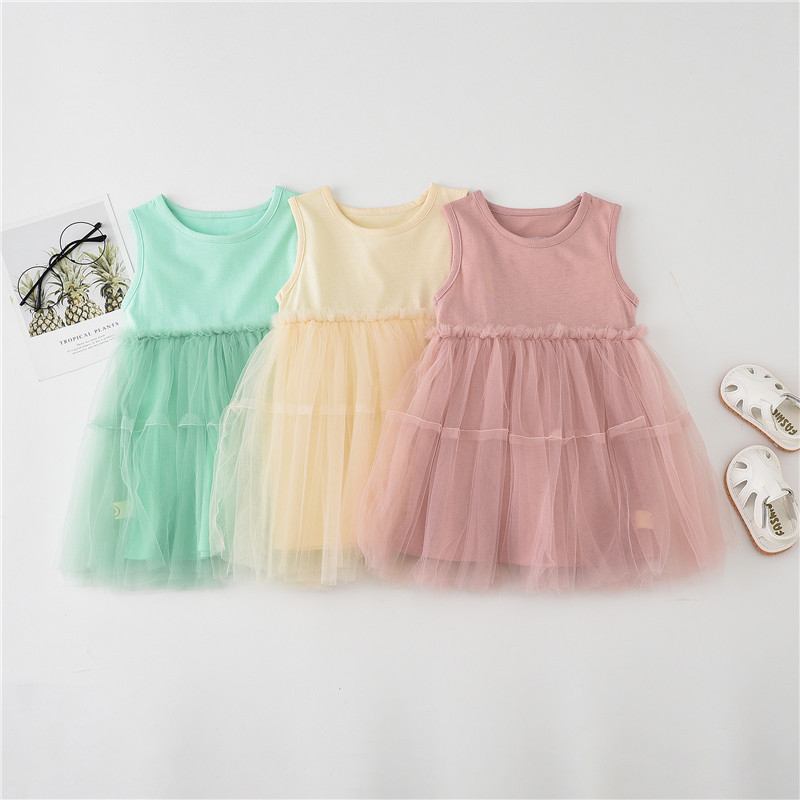 0 4years old Children lace dress girl baby dress Ball Gown cotton Vest baby dress princess dress Fashion Infantile Dresses in Dresses from Mother Kids