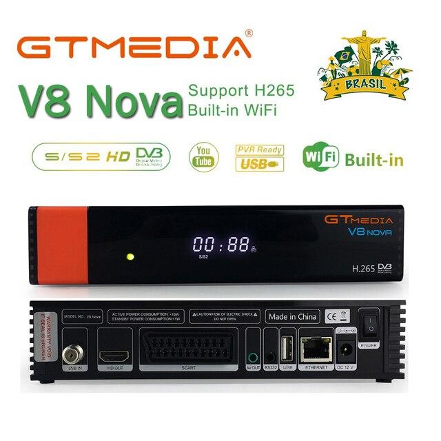 Freesat v8 נובה לווין מקלט Gtmedia V8 נובה מובנה WIFI כוח אספקת DVB S2 אירופה קליין טלוויזיה תיבת הוא את אותו כמו V9 סופר