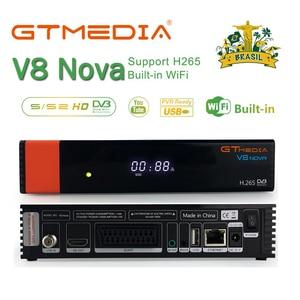 Image 1 - Freesat v8 NOVA 위성 수신기 Gtmedia V8 Nova 내장 WIFI 전원 공급 장치 DVB S2 유럽 Cline TV 박스는 V9 super와 동일합니다.