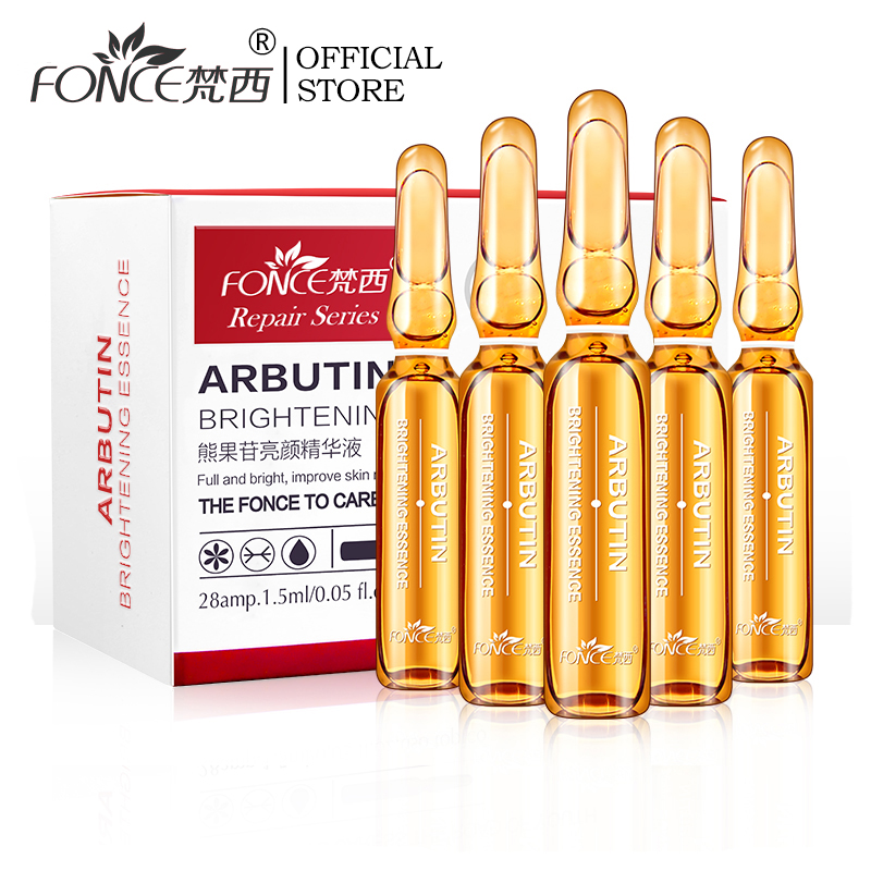 Fonce Arbutin Whitening Skin Facial Essence 28 Bottle Small Ampoule Niacinamide Revitalizing Brightening Beauty Needle Serum